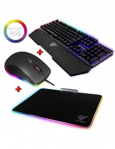 Kit gaming rgb phoenix teclado mecanico